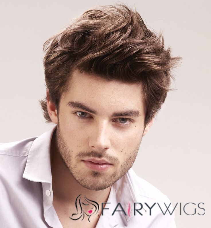 6 Inch Brown Full Lace 100% Indian Remy Hair Mens Wigs   fairywigs.com 230effe0284d