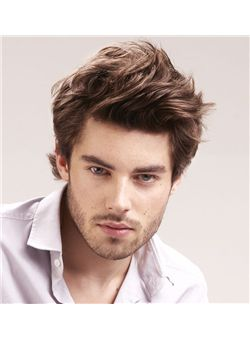 6 Inch Brown Full Lace 100% Indian Remy Hair Mens Wigs