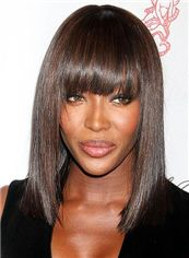 16 Inch Brown Straight Capless Indian Remy Hair