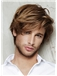 8 Inch Brown Full Lace 100% Indian Remy Hair Mens Wigs