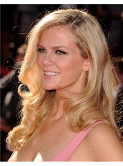 Charming 18 Inches Blonde 100% Virgin Remy Human Hair Full Lace Wigs