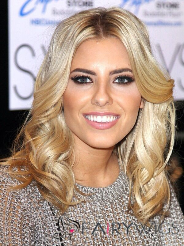 Hot 16 Inches Blonde Virgin Remy Human Hair Lace Front Wigs