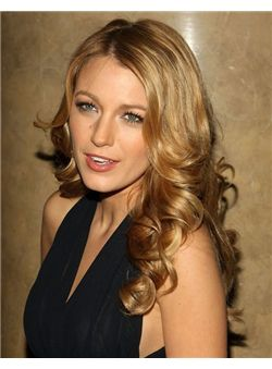 Excellent 16 Inches Blonde Virgin Remy Human Hair Lace Front Wigs
