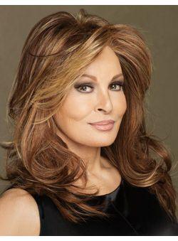 (Fast Shipping) 100% Virgin Remy Hair Brown Medium Wavy Full Lace Wigs 16 Inch (40.64 cm)
