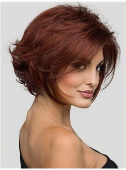 (Fast Shipping) Online Cheap Human Hair Ebony Short Wigs