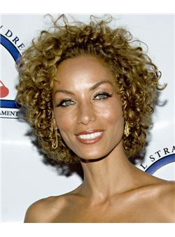 (Fast Shipping) Short Curly Brown African American Lace Wigs for Women 10 Inch