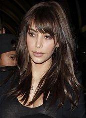 20 Inches Capless Brown Indian Remy Hair Wigs