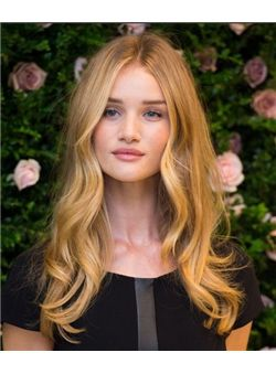 Newest 24 Inches Lace Front Blonde Silk Remy Human Hair Wigs