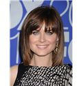 12 Inch Capless Straight Brown Short Synthetic Hair Wigs