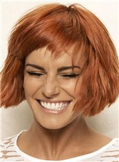 10 Inch Capless Straight Short Brown Synthetic Wigs