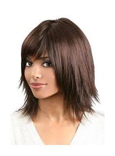 Cheap Medium Straight Hair Wigs