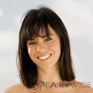 14 Inch Capless Straight Brown Synthetic Hair Wigs