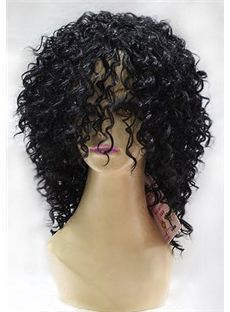 14 Inch Capless Curly Black Synthetic Hair Wigs