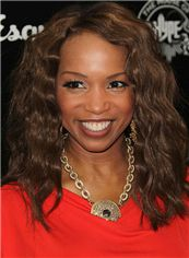 Hot 16 Inch Lace Front Wavy Brown Top Quality High Heated Fiber Wigs