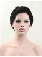 8 Inch Full Lace Short 100% Indian Remy Hair Wigs