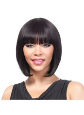 10 Inch Capless Straight Black Cheap Synthetic Hair Wigs