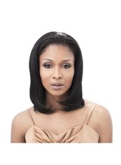 14 Inch Lace Front Straight Black Cheap Top Quality High Heated Fiber Wigs