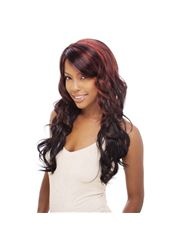 Cheap 22 Inch Capless Wavy Mixed Color Synthetic Hair Long Wigs