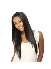 24 Inch Capless Straight Black Synthetic Hair Wigs