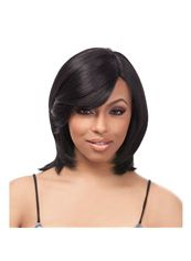 12 Inch Capless Straight Black Synthetic Hair Short Wigs