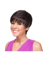 Cheap 8 Inch Capless Straight Black Short Synthetic Hair Wigs