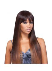 24 Inch Capless Straight Brown Synthetic Hair Wigs