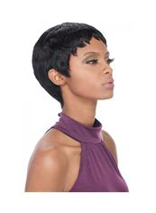 8 Inch Capless Straight Black Synthetic Hair Wigs