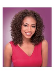 New 14 Inch Lace Front Curly Brown Top Quality High Heated Fiber Wigs