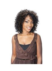 14 Inch Lace Front Curly Mixed Color Medium Top Quality High Heated Fiber Wigs