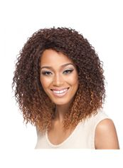 16 Inch Lace Front Curly Mixed Color Top Quality High Heated Fiber Wigs