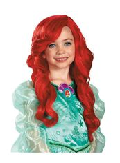 The Little Mermaid Ariel's 22 Inch Capless Wavy Red Synthetic Hair Costume Wigs