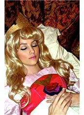 Sleeping Beauty 22 Inch Capless Wavy Blonde Synthetic Hair Costume Wigs