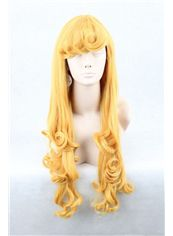 24 Inch Capless Wavy Blonde Synthetic Hair Costume Wigs