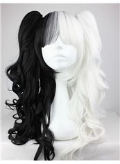 24 Inch Capless Wavy Mixed Color Synthetic Hair Costume Wigs