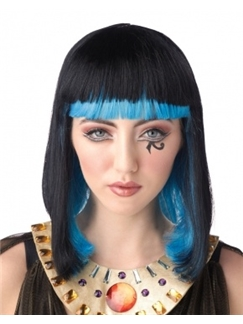 16 Inch Capless Straight Mixed Color Synthetic Hair Costume Wigs