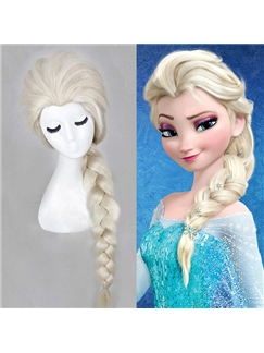 Frozen Elsa's 24 Inch Capless Wavy Synthetic Hair Costume Wigs