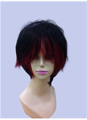 12 Inch Capless Straight Mixed Color Synthetic Hair Cheap Costume Wigs