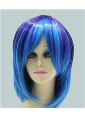 14 Inch Capless Straight Mixed Color Synthetic Hair Costume Wigs