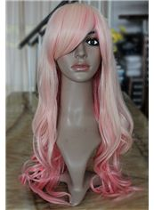 Wholesale 22 Inch Capless Wavy Mixed Color Synthetic Hair Costume Wigs