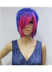 Wholesale 10 Inch Capless Straight Mixed Color Synthetic Hair Costume Wigs