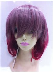 Cheap 12 Inch Capless Straight Mixed Color Synthetic Hair Costume Wigs