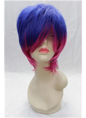 12 Inch Capless Straight Mixed Color Cheap Synthetic Hair Costume Wigs