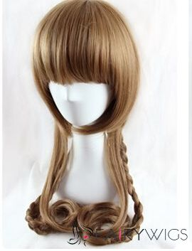 26 Inch Capless Wavy Blonde Synthetic Hair Costume Wigs