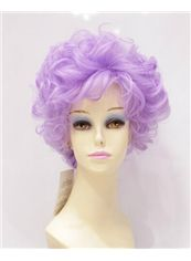 10 Inch Capless Wavy Purple Synthetic Hair Costume Wigs