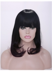 Wholesale 16 Inch Capless Synthetic Wavy Medium Wigs