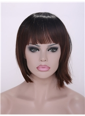Cheap 12 Inch Capless Straight Short Synthetic Wigs