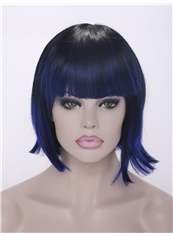 Wholesale 12 Inch Capless Straight Short Synthetic Wigs