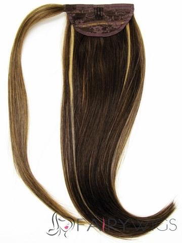 Fashion Human Hair 20 Inch Drawstring Ponytails