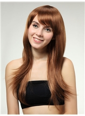 New 22 Inch Capless Wavy Golden Synthetic Hair Wig