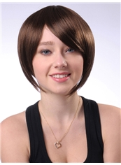 Super Sexy 10 Inch Capless Short Light Brown Synthetic Hair Wig